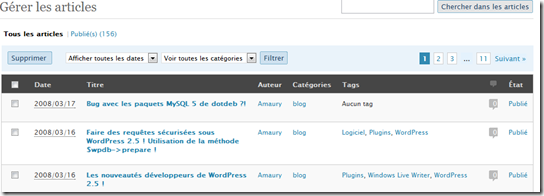 WordPress 2.5 › Articles