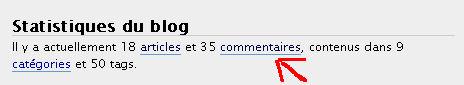 Les statistiques dans WordPress 2.3.3