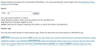 Installation de plugins depuis WordPress