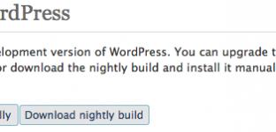 Mise à jour de WordPress depuis WordPress !