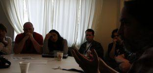 "Discussion ""Rendre WordPress plus global"", avec Zé au premier plan"