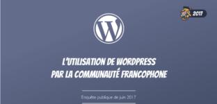 Les résultats du grand sondage de la communauté francophone de WordPress